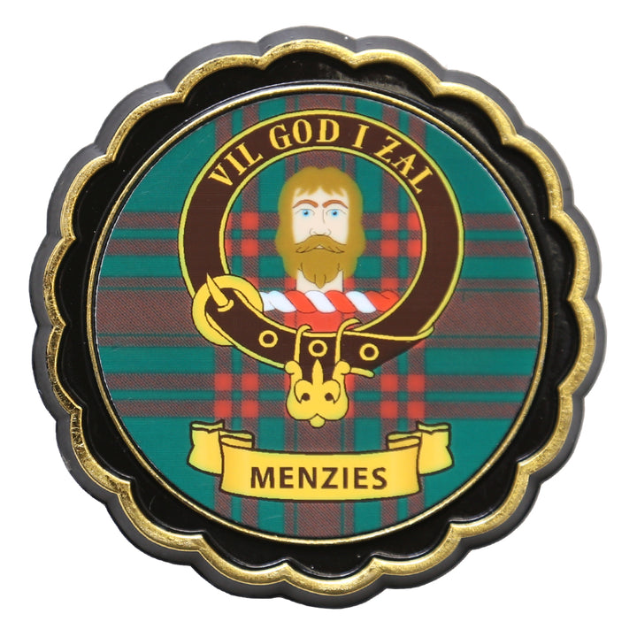 Clan Crest Fridge Magnet - Menzies