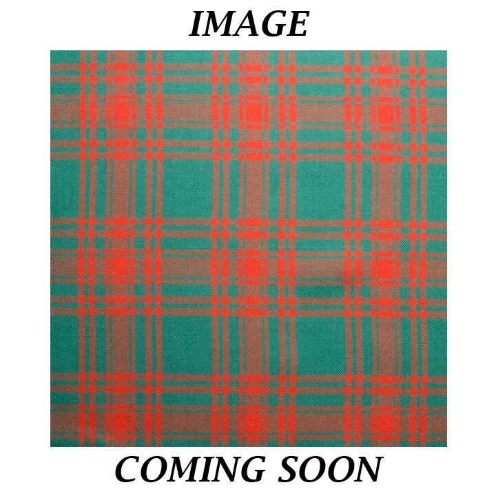 Fine Weight Tartan Scarf - Menzies Green Ancient
