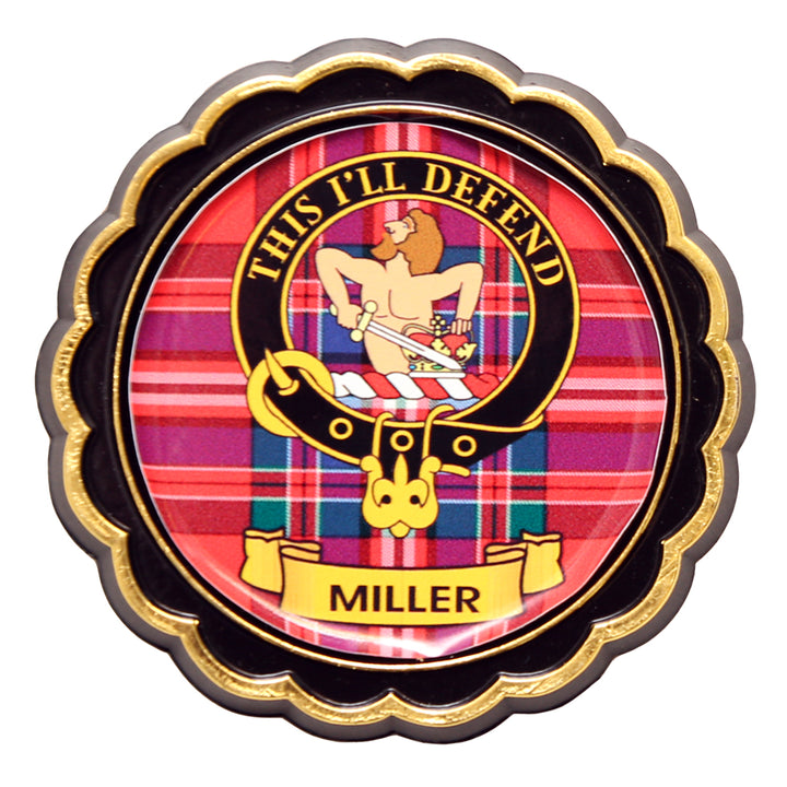 Clan Crest Fridge Magnet - Miller