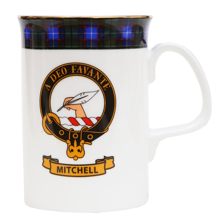 Clan Crest China Mug - Mitchell