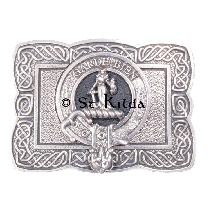 Clan Crest Belt Buckle - Montgomery