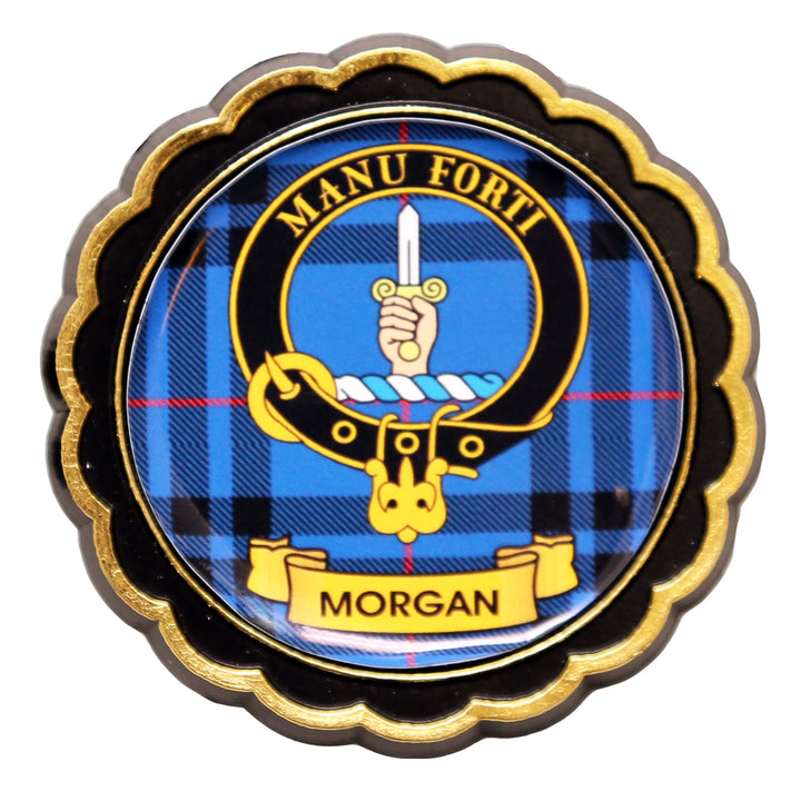 Clan Crest Fridge Magnet - Morgan