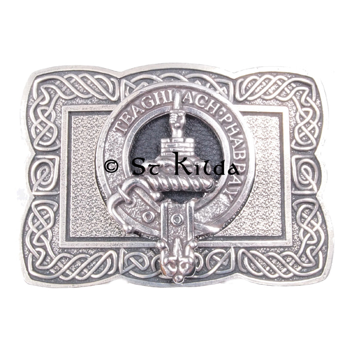 Clan Crest Belt Buckle - Morrison