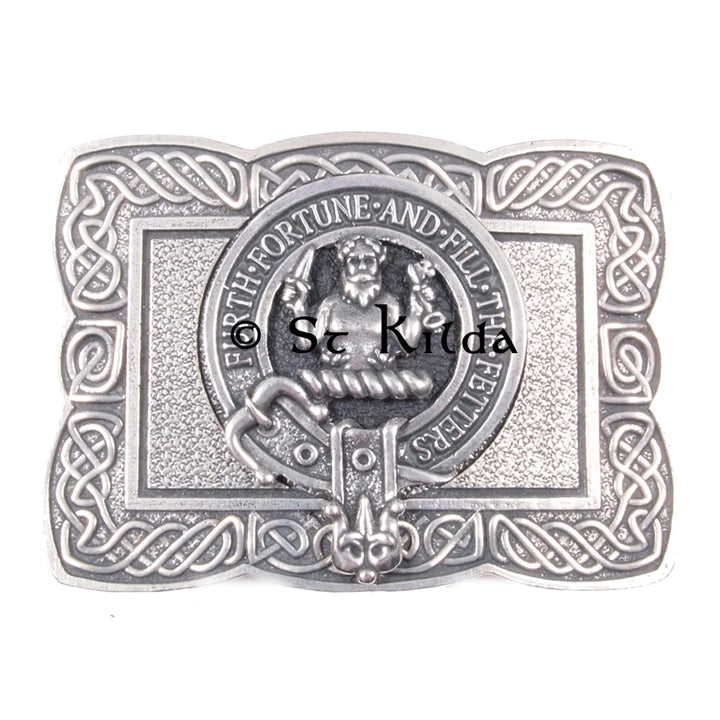 Clan Crest Belt Buckle - Murray of Atholl
