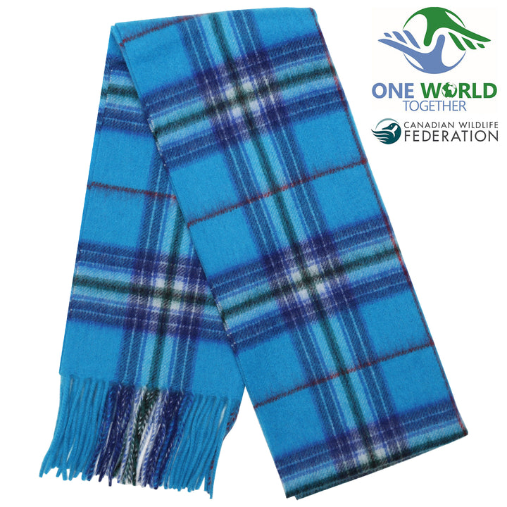 One World Together Lambswool Tartan Scarf