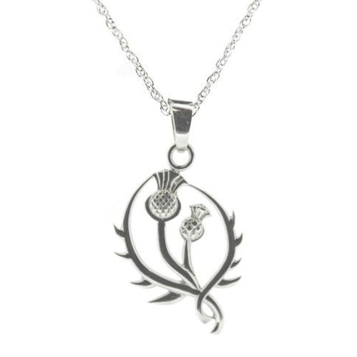 Scottish Thistle Silver Necklace