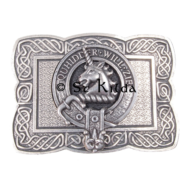 Clan Crest Belt Buckle - Stewart of Appin