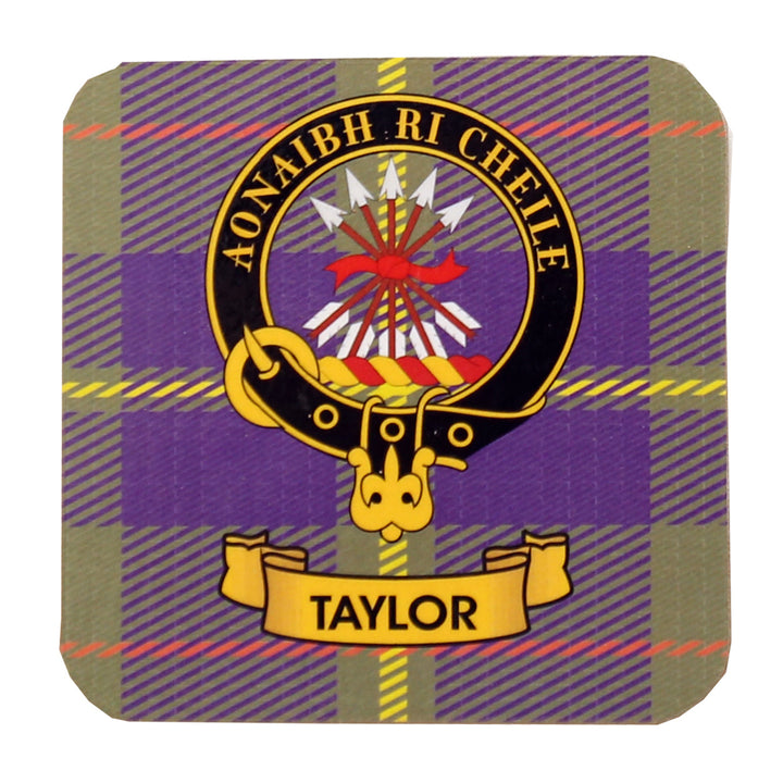 Clan Crest Drink Coaster - Taylor