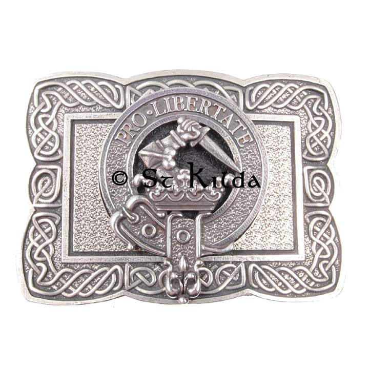 Clan Crest Belt Buckle - Wallace