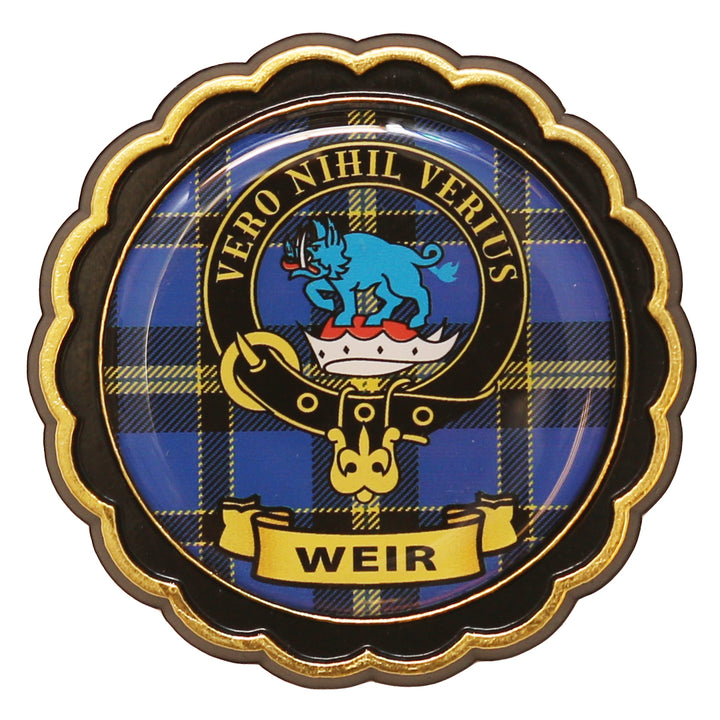 Clan Crest Fridge Magnet - Weir