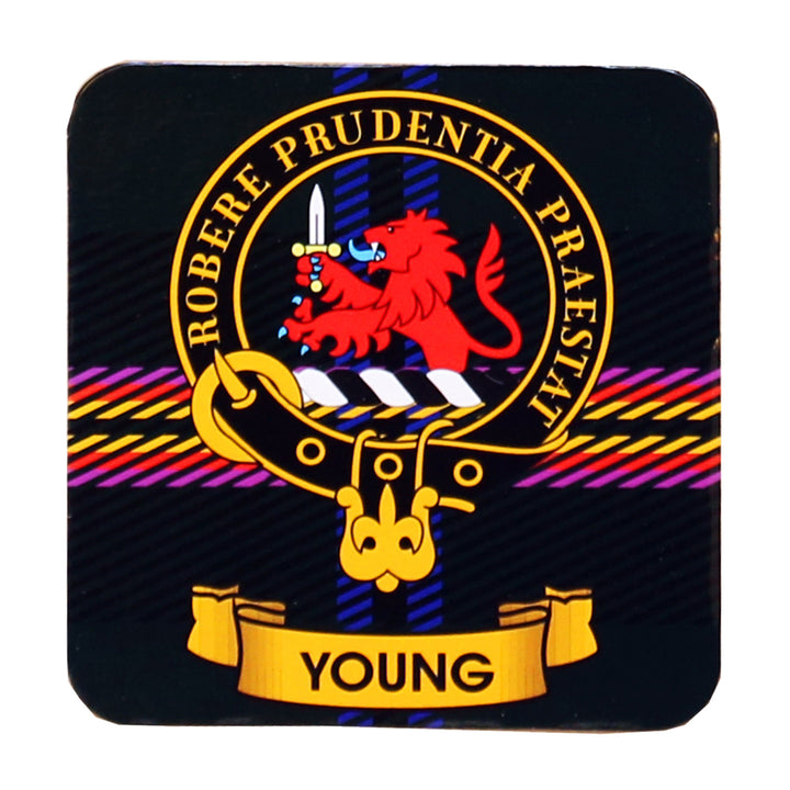 Clan Crest Drink Coaster - Young