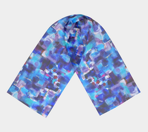 Gathering in Blues Scarf