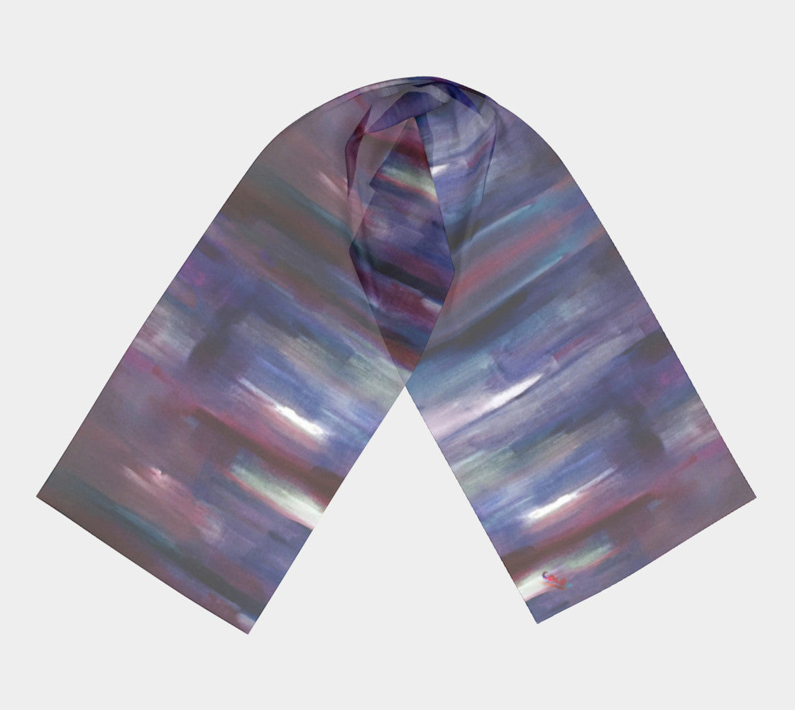 Purple Color Fall Scarf