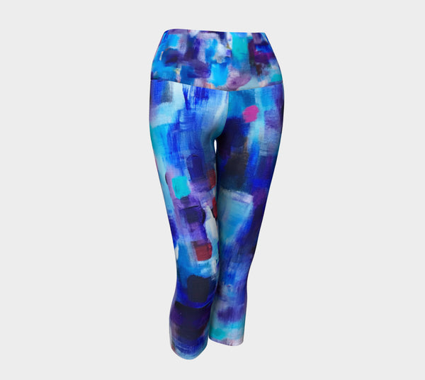 Gathering in Blues Yoga Capris