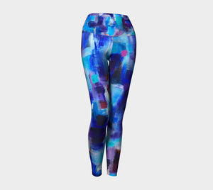 Gathering in Blues Yoga Leggings