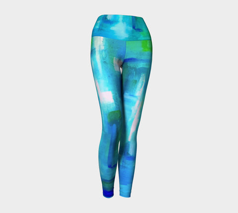 Blue Windows Yoga Leggings