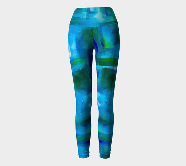 Blue Windows Yoga Leggings 2