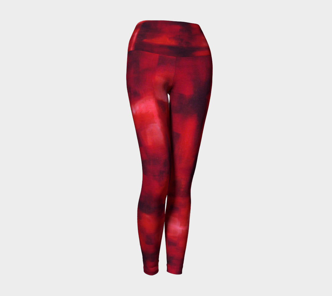 Red Windows Yoga Leggings