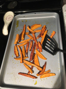 Homemade Sweet Potato Fries. Best decision I've made this week.