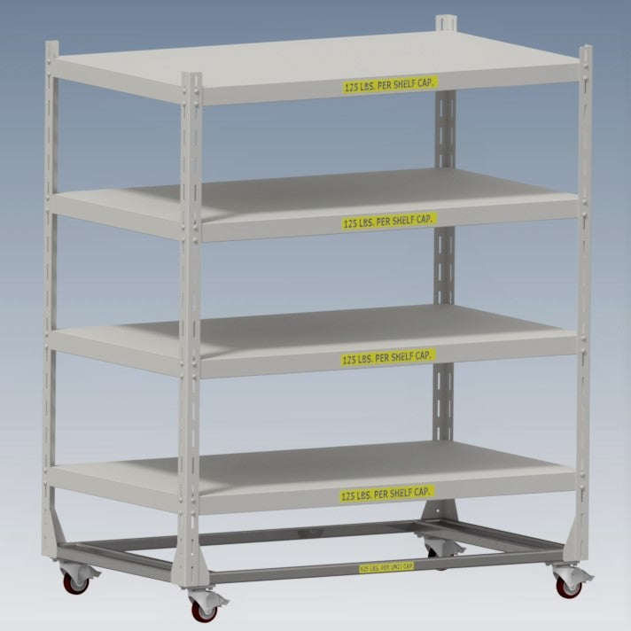 Adjustable Mobile Shelving Unit