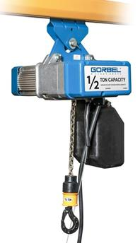 Gorbel GS Series Electric Chain Hoist Capacities from 1/8 Ton - 5 Ton