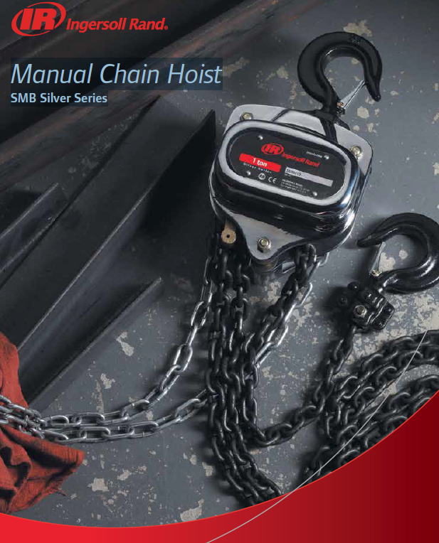 "Ingersoll Rand 1 Ton Manual Chain Hoist SMB ""Silver"" Series"