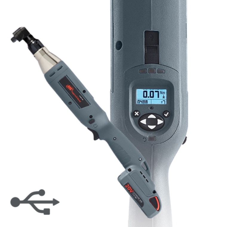 "IR QXC Series #QXC2AT05PQ4 Cordless Angle Wrench Torque Precision Fasteners Tools 1/4"" Quick Change 1.0-5 in-lbs (9-44 Nm) 1213 (RPM) Free Speed"