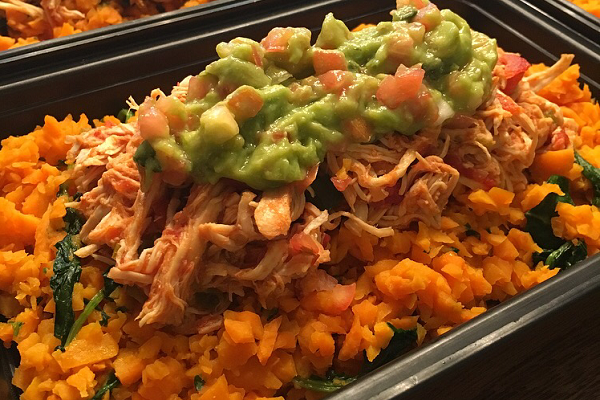 Weekly Meal Prep: Slow Cooker Salsa Chicken with Sweet Potato Rice