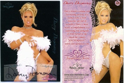 Rare Limited Edition Darcy Donavan Bench Warmer Trading Card # 10 - Feather Boa