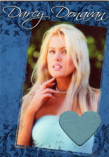 Limited Edition Darcy Donavan Autographed Event Worn Swatch Card for Charity # 1