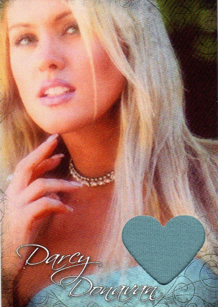 Limited Edition Darcy Donavan Autographed Event Worn Swatch Card for Charity # 2