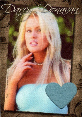 Limited Edition Darcy Donavan Autographed Event Worn Swatch Card for Charity # 3