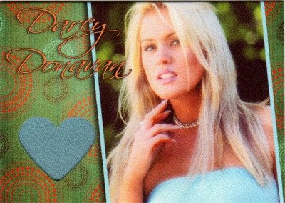Limited Edition Darcy Donavan Autographed Event Worn Swatch Card for Charity # 4