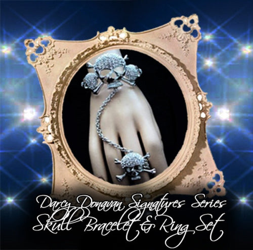 Darcy Donavan Signature Series Jewelry Line Skull Bracelet & Ring Set