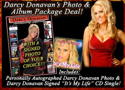 Darcy Donavan Autographed 8x10 Photo & CD Single Package Deal