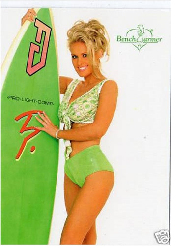 Limited Edition Bench Warmer Trading Card # 45 - Green Bikini