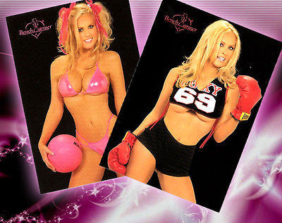 Darcy Donavan Celebrity Trading Cards Lot 9 & 68- Autographed Benchwarmer Cards with Certificates of Authenticity and 8x10 Photo