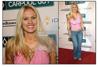 Darcy Donavan Celebrity Pink Top from Red Carpet Event Autographed Memorabilia, Comes with Certificate of Authenticity and 8x10 Photo.
