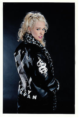 Celebrity Autographed Memorabilia Darcy Donavan Exclusive Music Tour Jacket Sz M. Comes with Certificate of Authenticity and 8x10 Photo and 2 Trading Cards.