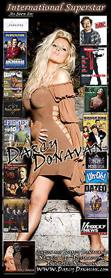 Celebrity Autographed Memorabilia Collectible Darcy Donavan Album Cover Dress, Comes with Certificate of Authenticity, 2 Photos and Autographed CD.