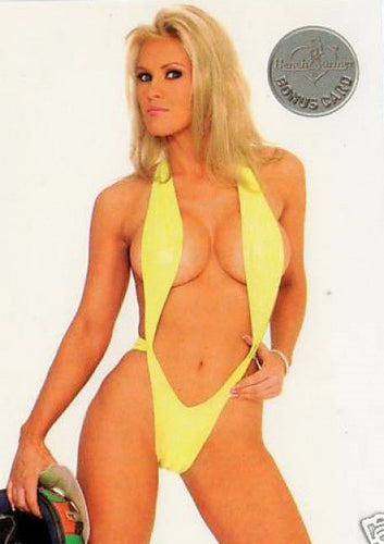 Limited Edition Bench Warmer Trading Card # 73 Yellow Bikini