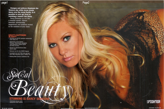 Celebrity Autographed Memorabilia - Darcy Donavan Celebrity Magazine, Only one in 3 available, Comes with Certificate of Authenticity and 2 8x10 Photos.