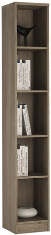 4 You Canyon Grey Bookcase - Tall Narrow