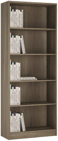 4 You Canyon Grey Bookcase - Tall Wide