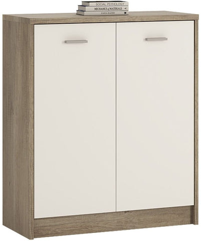 4 You Canyon Grey and Pearl White Cupboard - 2 Door