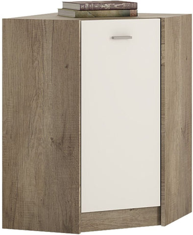 4 You Canyon Grey and Pearl White Cupboard - Corner