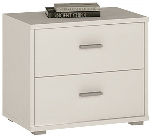 4 You Pearl White Bedside Cabinet - Low
