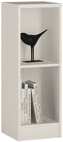 4 You Pearl White Bookcase - Low Narrow