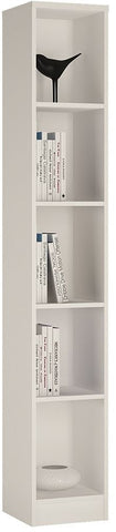 4 You Pearl White Bookcase - Tall Narrow
