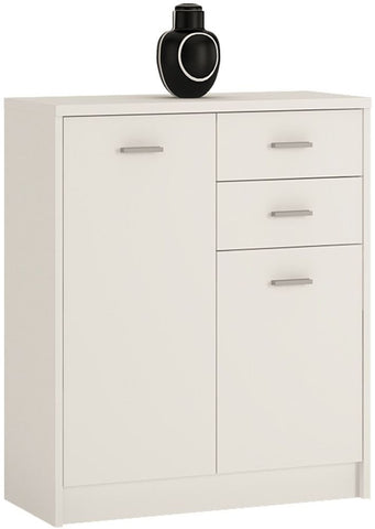 4 You Pearl White Cupboard - 2 Door 2 Drawer